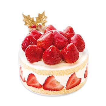 不二家クリスマスケーキあまおう苺たっぷりの贅沢クリスマスショートケーキ