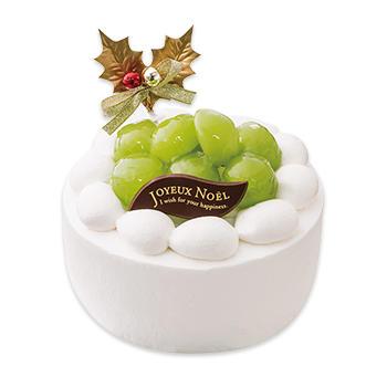 不二家クリスマスケーキシャインマスカットのプレミアムクリスマスケーキ