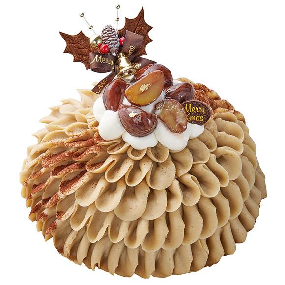 シャトレーゼクリスマスケーキ国産和栗使用Xmasモンブランデコレーション